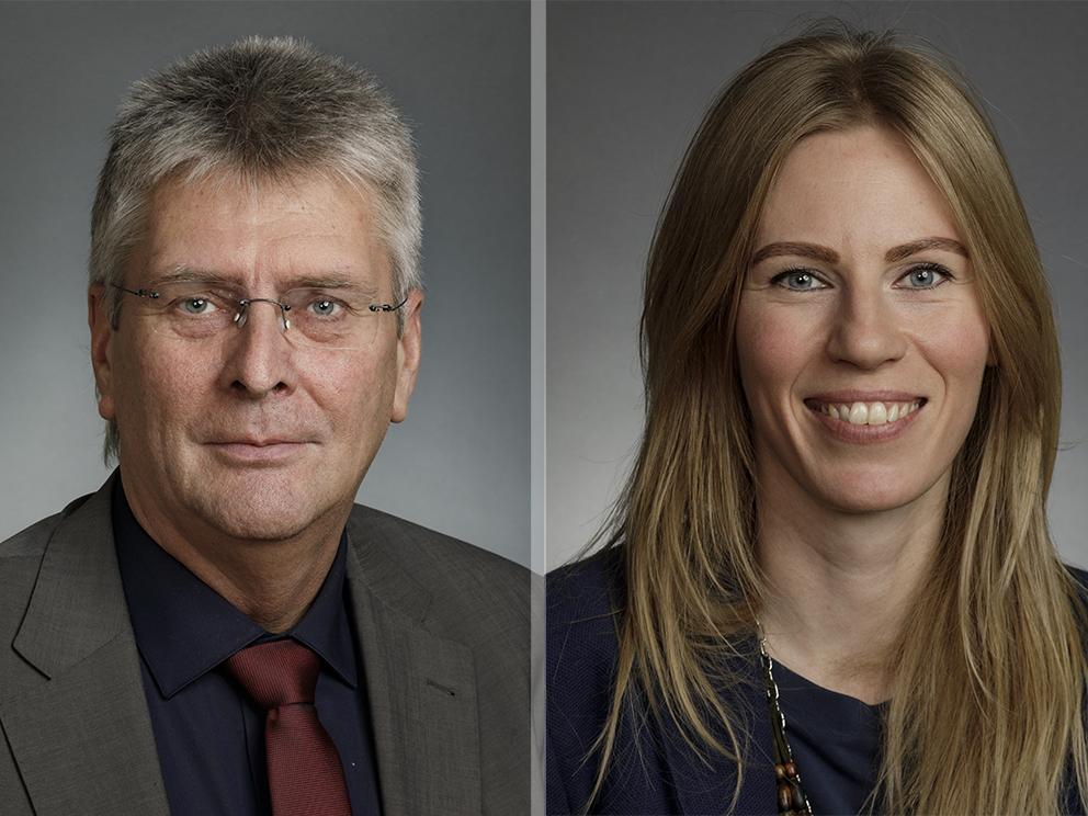 Guðmundur Ingi Kristinsson, þingmaður Flokks fólksins, og Halldóra Mogensen, þingmaður Pírata og for…